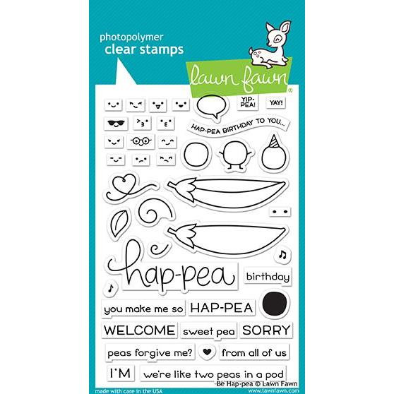 Be Hap-pea, Lawn Fawn Clear Stamps - 352926721546
