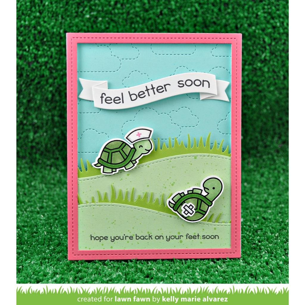 Get Well Before 'n Afters, Lawn Fawn Clear Stamps - 352926721164