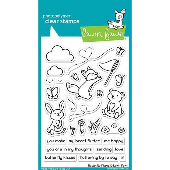 Butterfly Kisses, Lawn Fawn Clear Stamps - 352926720792