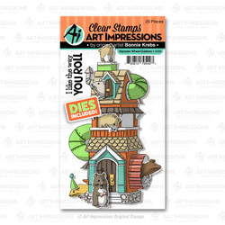Hamster Wheel Cubbies, Art Impressions Clear Stamps - 750810795497