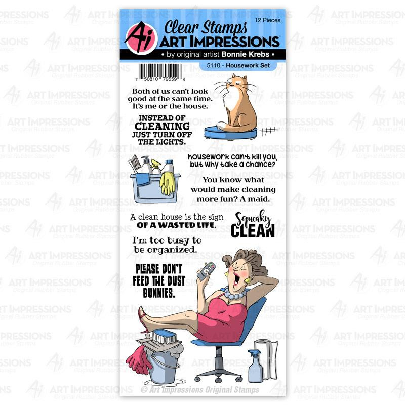 Housework, Art Impressions Clear Stamps - 750810795596