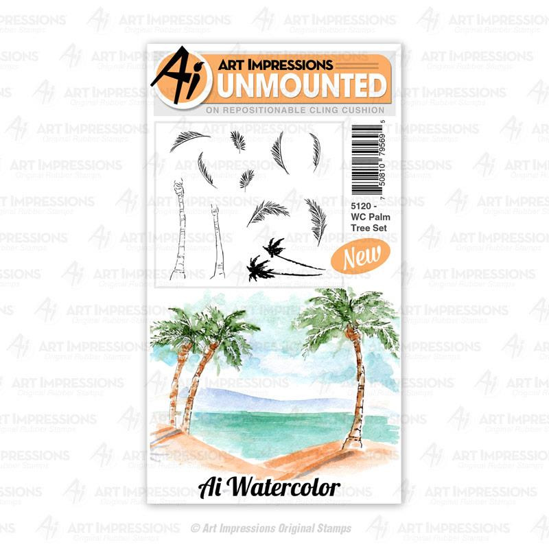 WC Palm Tree, Art Impressions Cling Stamps - 750810795695