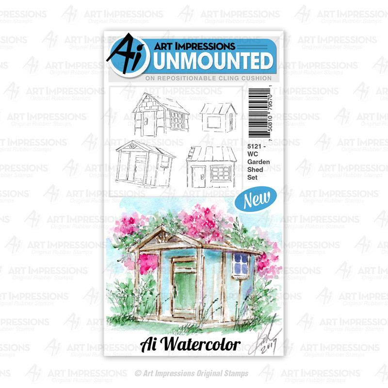 WC Garden Shed, Art Impressions Cling Stamps - 750810795701