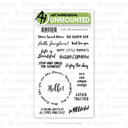 WC Sentiment Set 2, Art Impressions Clear Stamps - 750810795855