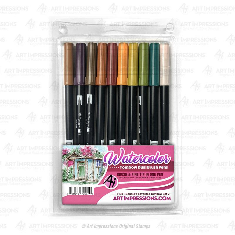 Bonnie's Favorites Tombow Set 2, Art Impressions Markers - 750810795879