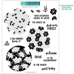 Floral Print Silhouette, Concord & 9th Clear Stamps -