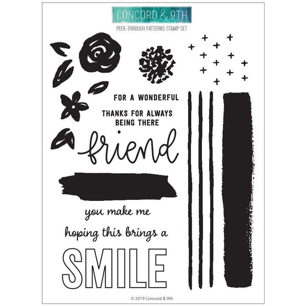 Peek Through Patterns, Concord & 9th Clear Stamps -