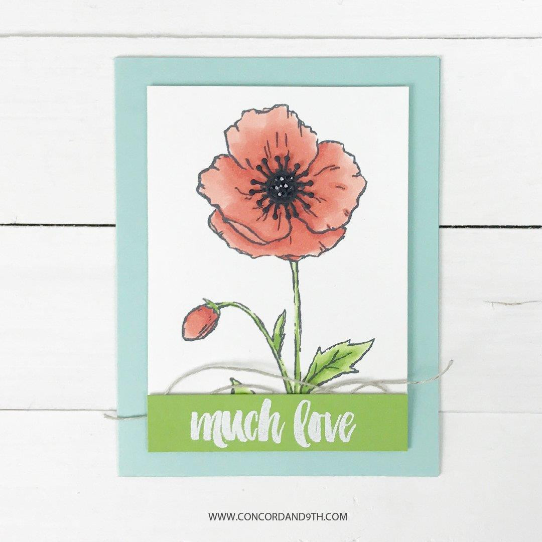 Pretty Poppy, Concord & 9th Clear Stamps -