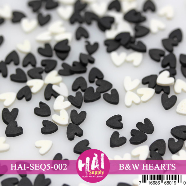 Black & White Hearts, HAI Confetti - 716686680190
