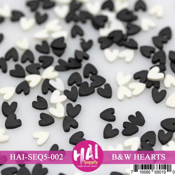Black & White Hearts, HAI Confetti - 716686680190