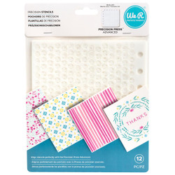 Precision Press Advance Stencils 12 pk, We R Memory Keepers - 633356605973