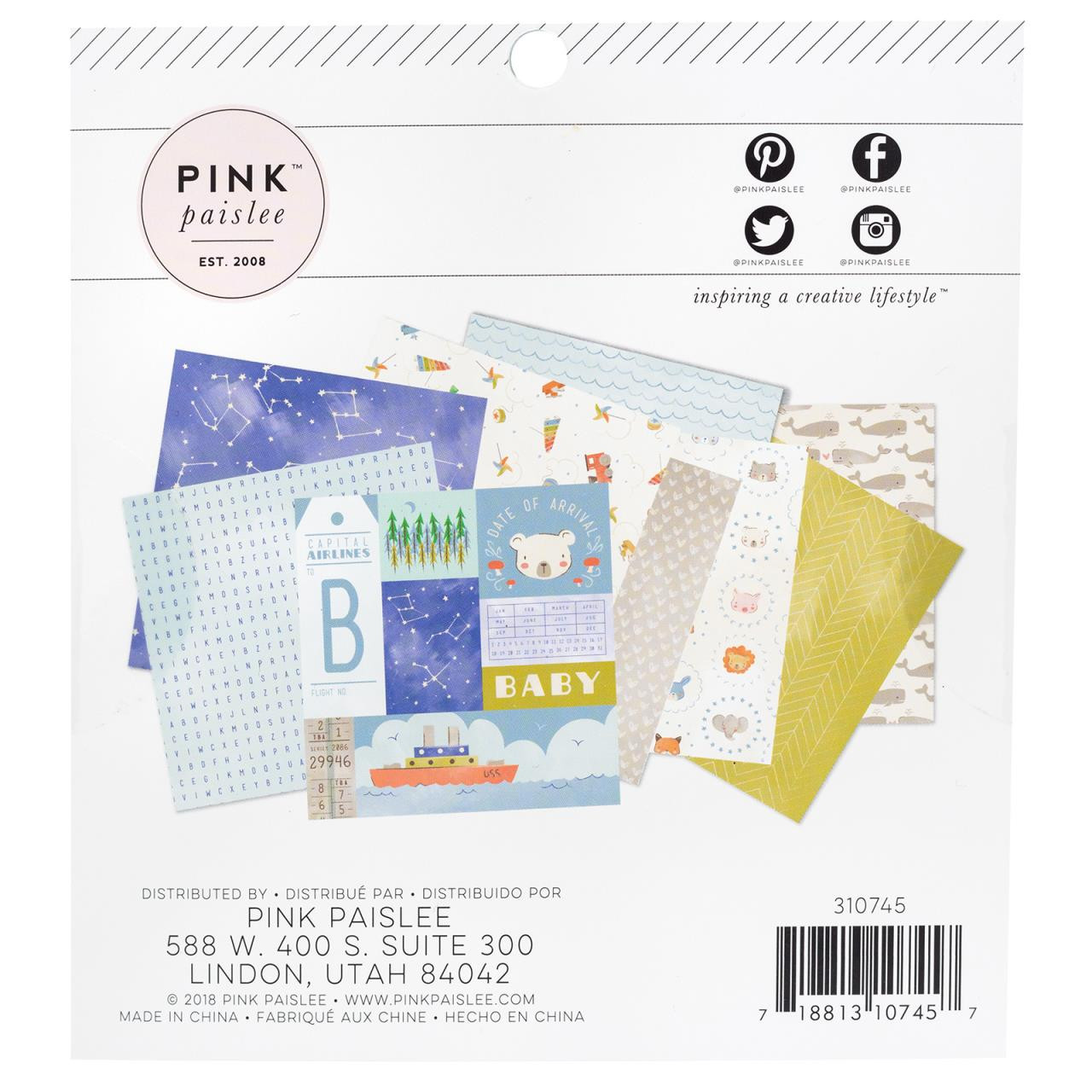 Little Adventurer Boy, Pink Paislee 6 X 6 Paper Pad - 718813107457