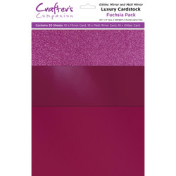 Fuchsia Luxury Mixed Card Pack, Crafter's Companion 8.5 X 11 Cardstock - 709650831605