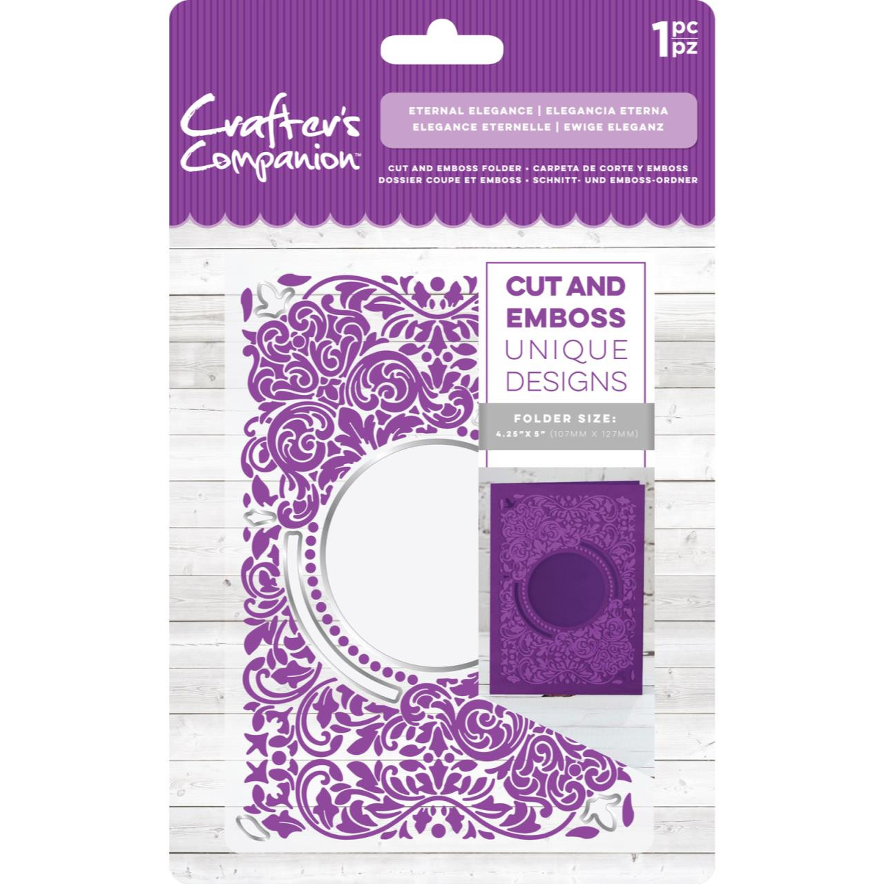 "CRAFTER/'S COMPANION ETERNAL ELEGANCE CUTTING AND EMBOSSING FOLDER 5/"" X 7/"""