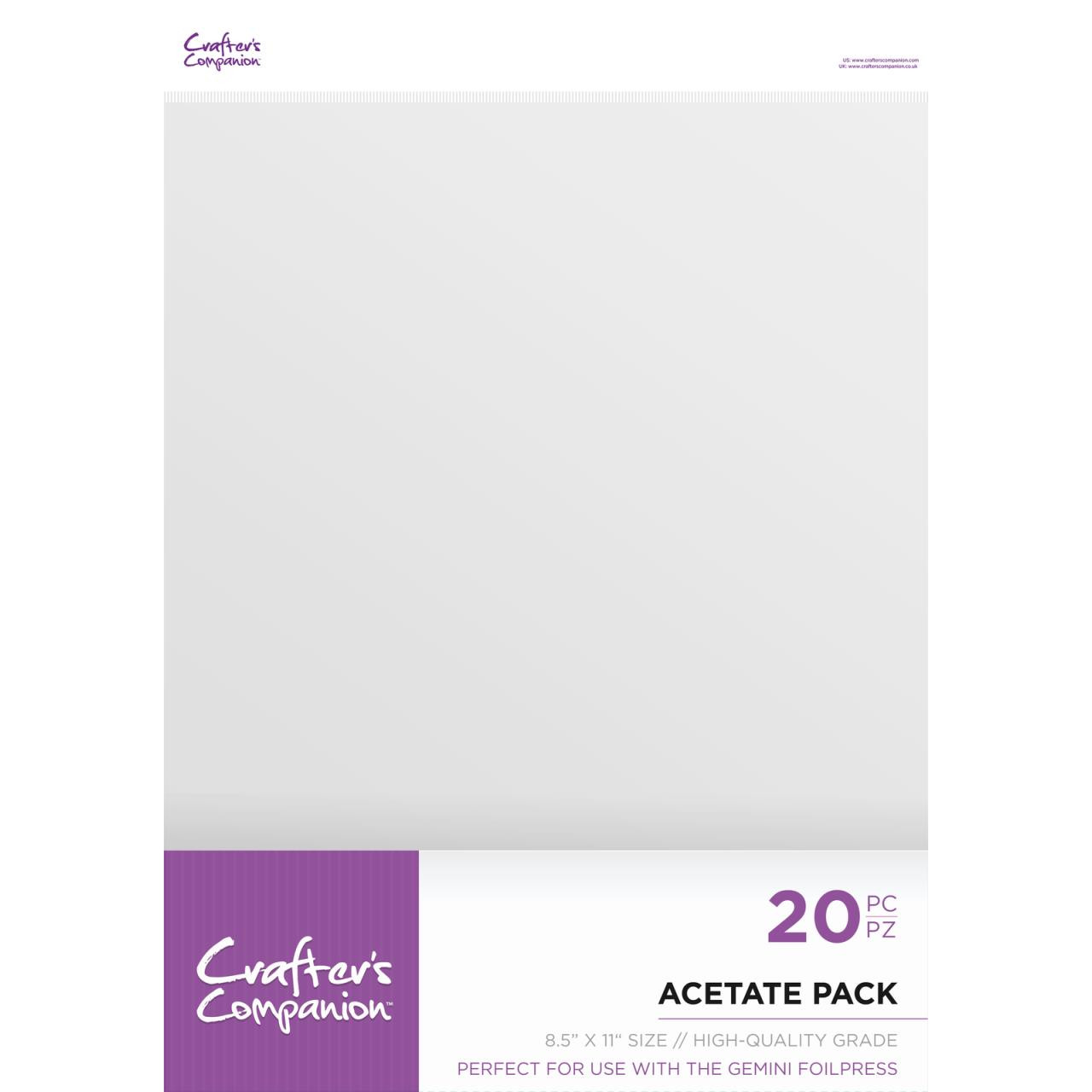 Acetate Pack 8 X 11, Crafter's Companion Paper - 709650877726