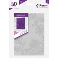 Contemporary Lace, Crafter's Companion Gemini 5 X 7 3D Embossing Folder - 709650869479
