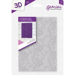 Chantilly Lace, Crafter's Companion Gemini 5 X 7 3D Embossing Folder - 709650869462