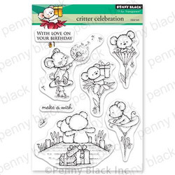 Critter Celebration, Penny Black Clear Stamps - 759668305421