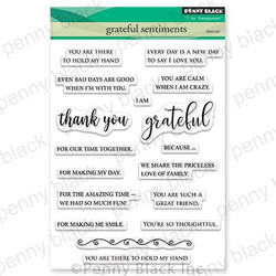Grateful Sentiments, Penny Black Clear Stamps - 759668305476