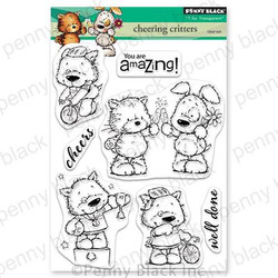 Cheering Critters, Penny Black Clear Stamps - 759668305490