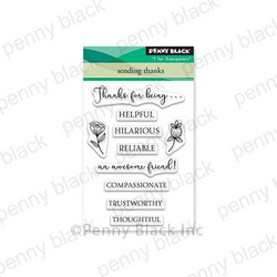 Sending Thanks, Penny Black Clear Stamps - 759668305520