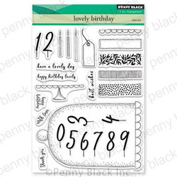 Lovely Birthday, Penny Black Clear Stamps - 759668305575