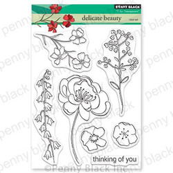 Delicate Beauty, Penny Black Clear Stamps - 759668305599