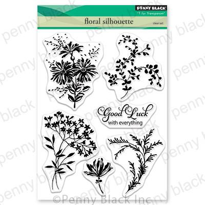 Floral Silhouette, Penny Black Clear Stamps - 759668305636