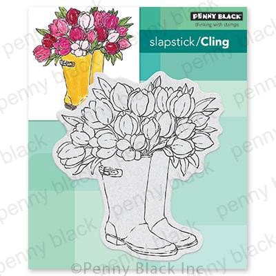 Blooming Boots, Penny Black Cling Stamps - 759668406661