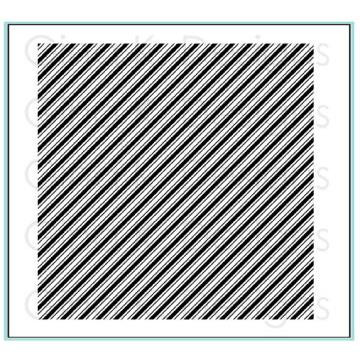 Diagonal Stripes Background Stamp, Gina K Designs Cling Stamps - 609015543627