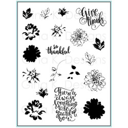Painted Autumn Clear Stamp Set, Gina K Designs Clear Stamps - 609015549490
