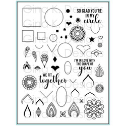 Mandala Maker by Rina Krupsky, Gina K Designs Clear Stamps - 609015543337