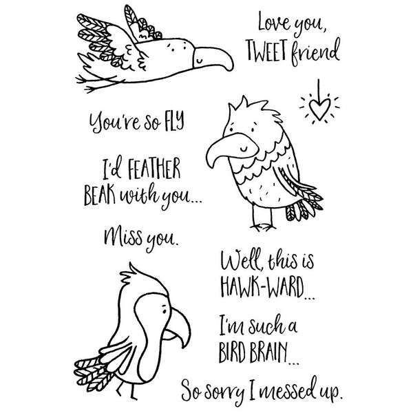 Feathered Friends, Inky Antics Clear Stamps -