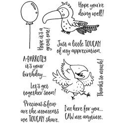 Tropical Birds, Inky Antics Clear Stamps -