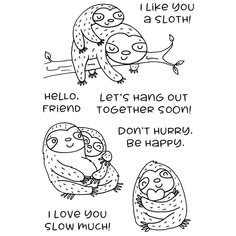 Sincere Sloths, Inky Antics Clear Stamps -