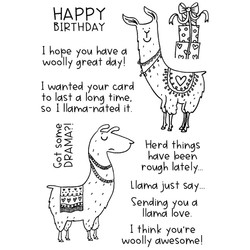 Lovely Llamas, Inky Antics Clear Stamps -