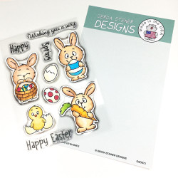 Easter Bunnies, Gerda Steiner Clear Stamps -