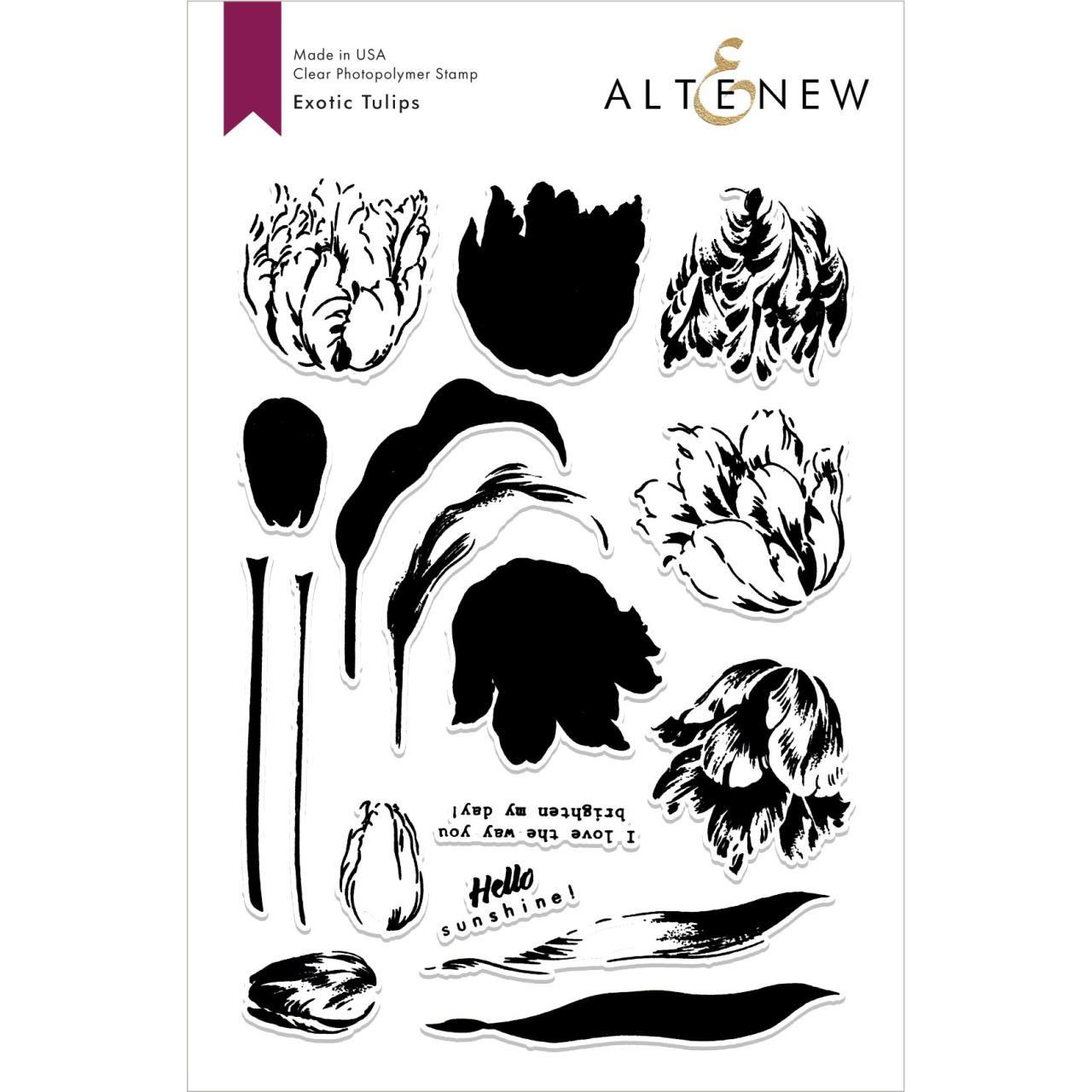 Exotic Tulips, Altenew Clear Stamps - 704831298215