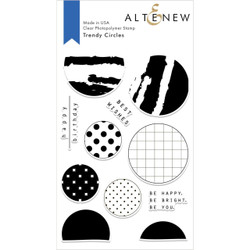 Trendy Circles, Altenew Clear Stamps - 704831298352