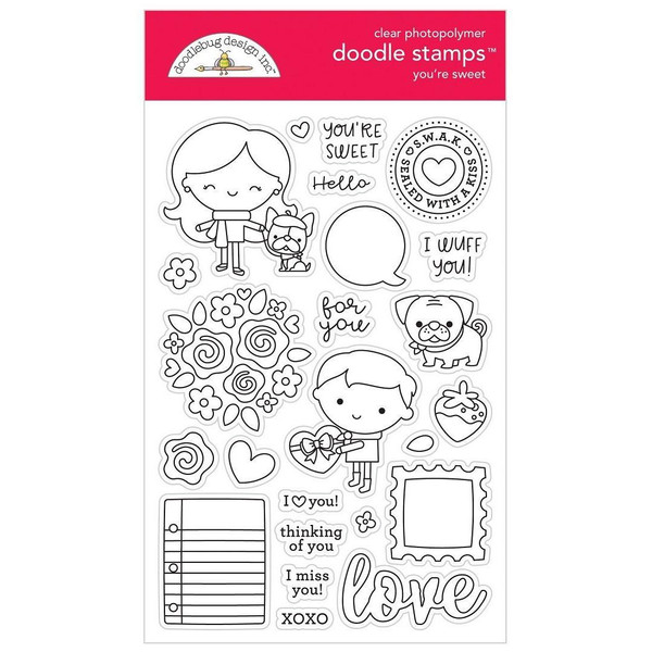 You're Sweet, Doodlebug Clear Stamps - 842715063273