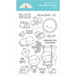 Oh Boy!, Doodlebug Clear Stamps - 842715063310