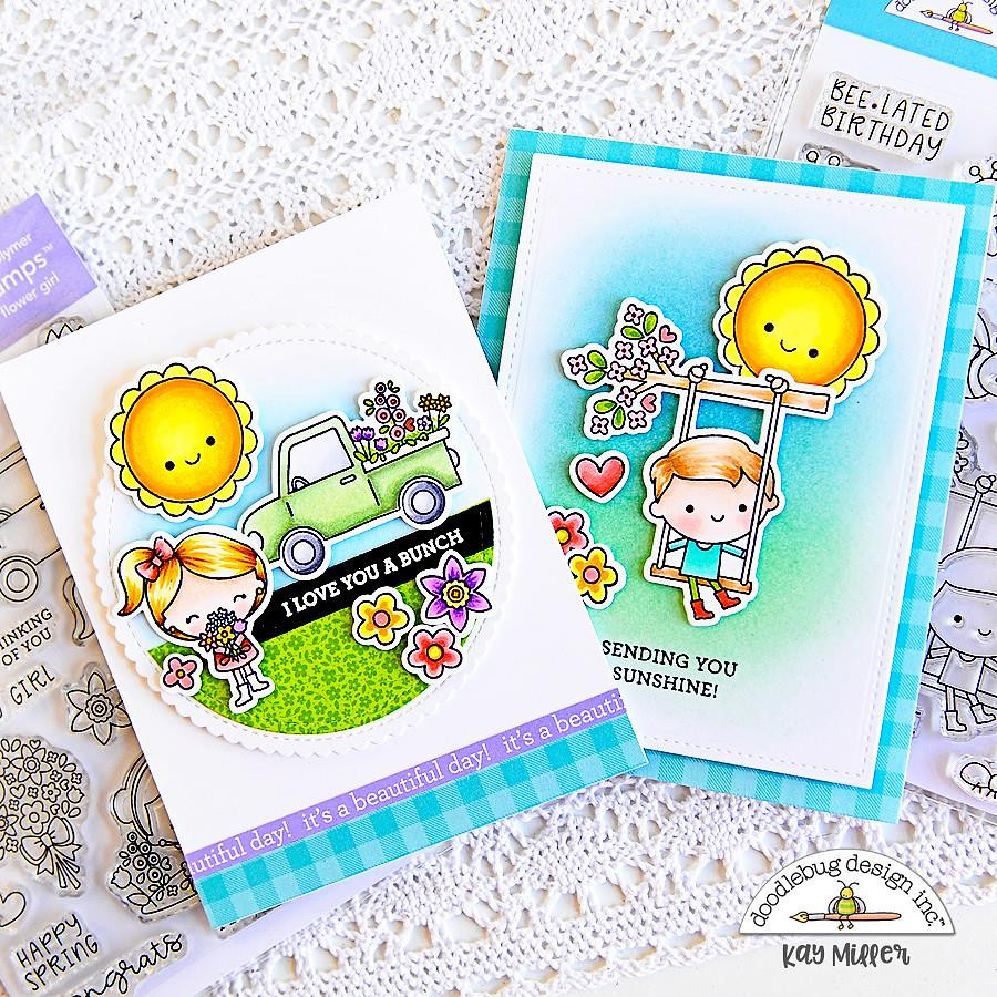 Flower Girl, Doodlebug Clear Stamps - 842715063334