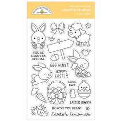 Hoppy Easter, Doodlebug Clear Stamps - 842715063358