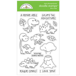 Dino-Mite!, Doodlebug Clear Stamps - 842715063419