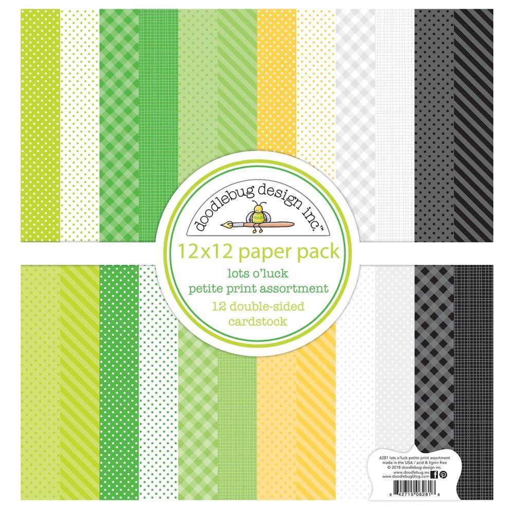 Lots O' Luck Assortment Pack, Doodlebug 12 X 12 Paper Pack - 842715062733