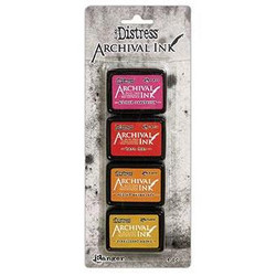 Distress Archival Kit 1, Ranger Mini Ink Pads -