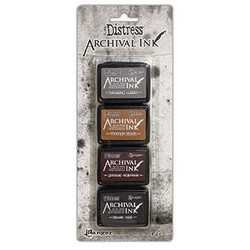 Distress Archival Kit 3, Ranger Mini Ink Pads -