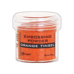 Orange Tinsel, Ranger Embossing Powder -