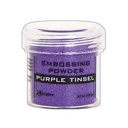 Purple Tinsel, Ranger Embossing Powder -