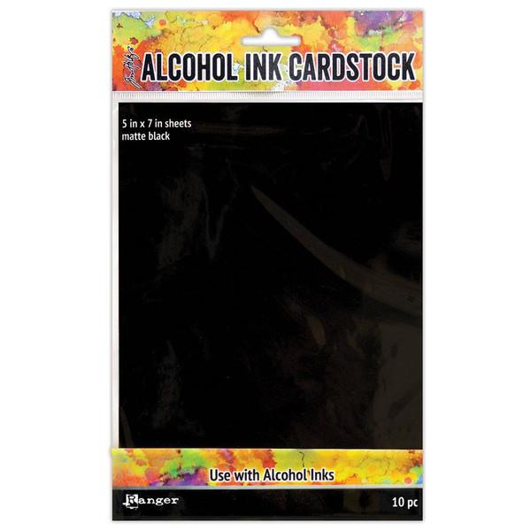 Black Matte, Ranger Alcohol Ink Cardstock -